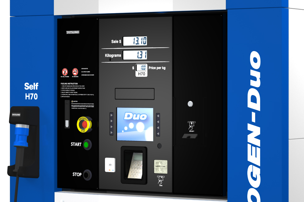 HYDROGEN-Duo Hydrogen Dispenser US market Modelの特徴